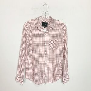 Rails | red & white gingham button up top small